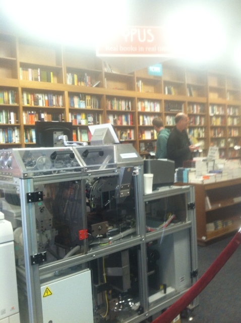 "They have an in-store JIT book printer named ""Opus"", pretty dope!"